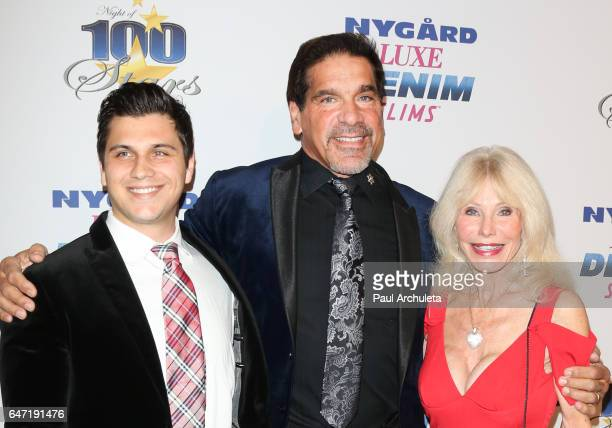 Brent Ferrigno Lou Ferrigno and Carla Ferrigno attend the 27th annual 'Night Of 100 Stars' black tie dinner and viewing gala at The Beverly Hilton...