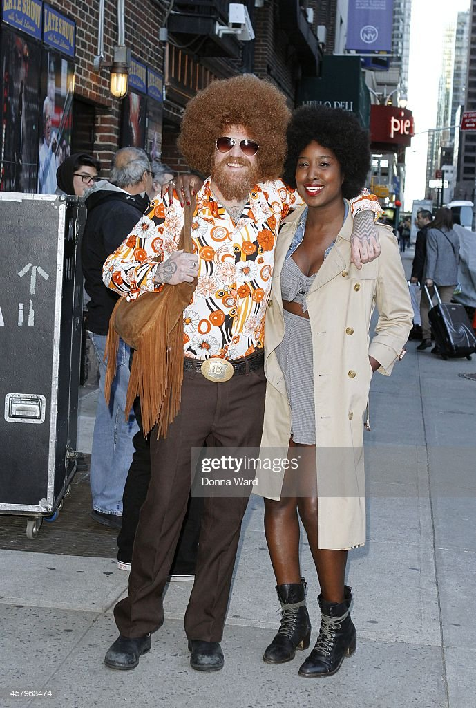 Brent Hinds arrives for the 'Late Show with David Letterman' at Ed Sullivan Theater on October 27, 2014 in New York City.