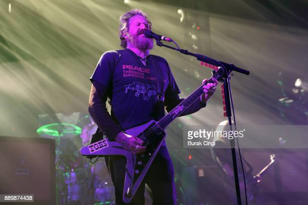 Brent Hinds of Mastodon performs at O2 Academy Brixton on December 10 2017 in London England