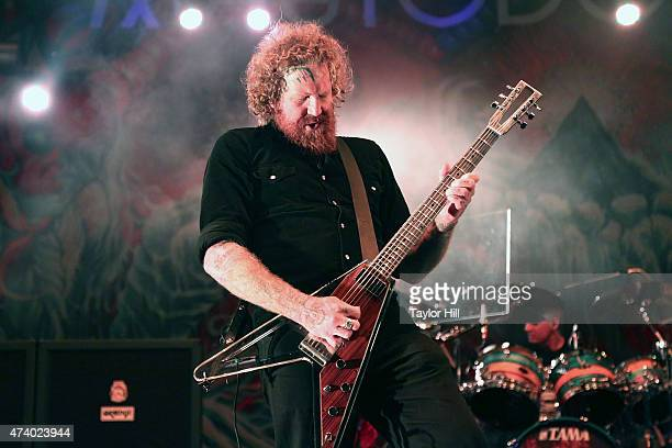 Brent Hinds of Mastodon performs at Rumsey Playfield Central Park on May 19 2015 in New York City