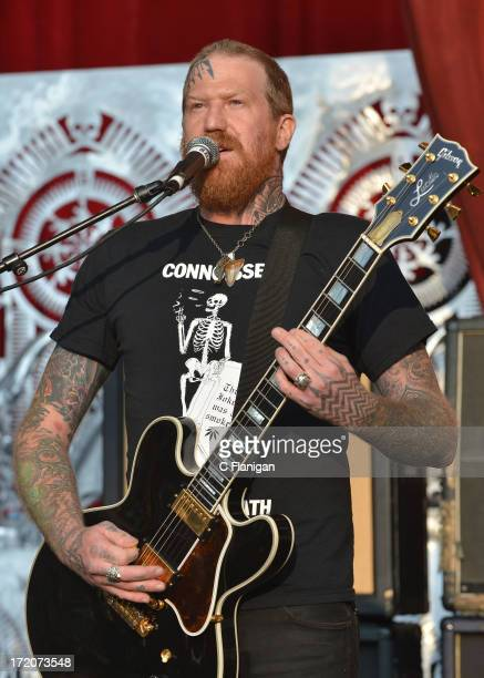 Brent Hinds of Mastodon performs during the 2103 Rockstar Energy Drink Mayhem Festival on June 30 2013 in San Francisco California