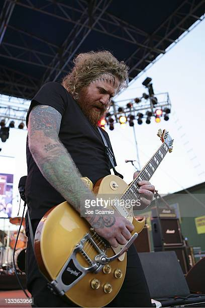 Brent Hinds of Mastodon performs on day 1 of the 2009 San Diego Street Scene Music Festival on August 28 2009 in San Diego California