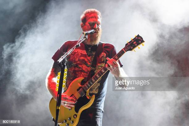 Brent Hinds of Mastodon performs on stage at the Download Festival on June 23 2017 in Madrid Spain