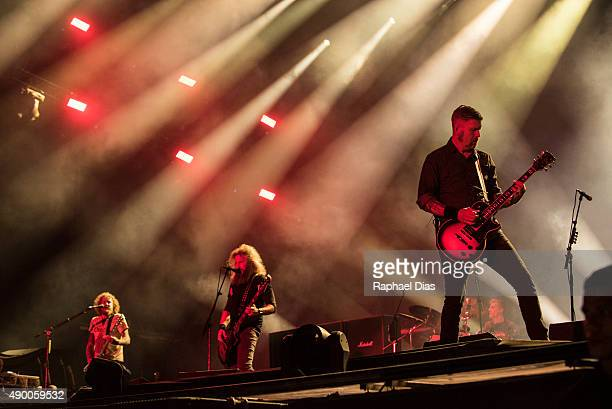 Brent Hinds Troy Sanders and Bill Kelliher from Mastodon performs at 2015 Rock in Rio on September 25 2015 in Rio de Janeiro Brazil