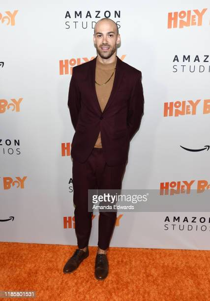 Brent Kiser arrives at the premiere of Amazon Studios Honey Boy at The Dome at Arclight Hollywood on November 05 2019 in Hollywood California