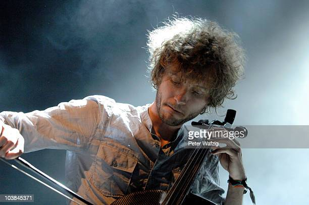 Brent Kutzle of OneRepublic performs on stage at the Palladium on September 04 2010 in Cologne Germany
