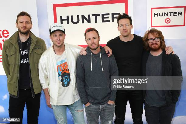 Brent Kutzle Ryan Tedder Eddie Fisher Zach Filkins and Drew Brown of One Republic attend Hunter for Target Ultimate Family Festival at Rose Bowl on...