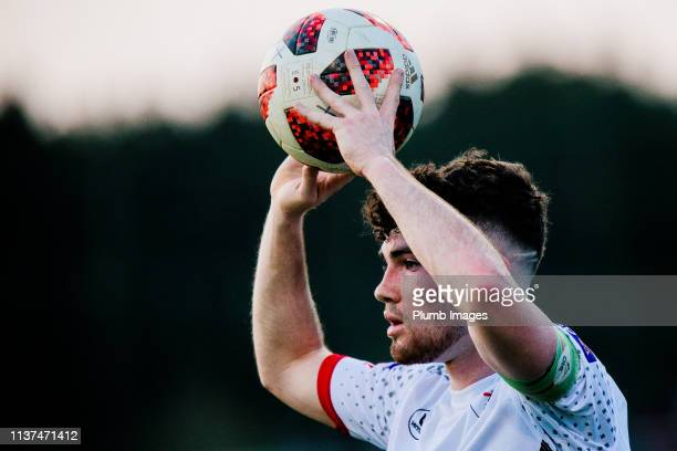 Brent Laes of OH Leuven during the Reserve Pro League Cup match between OH Leuven Beloften and RSC Anderlecht Reserve at the Neerpede training ground...