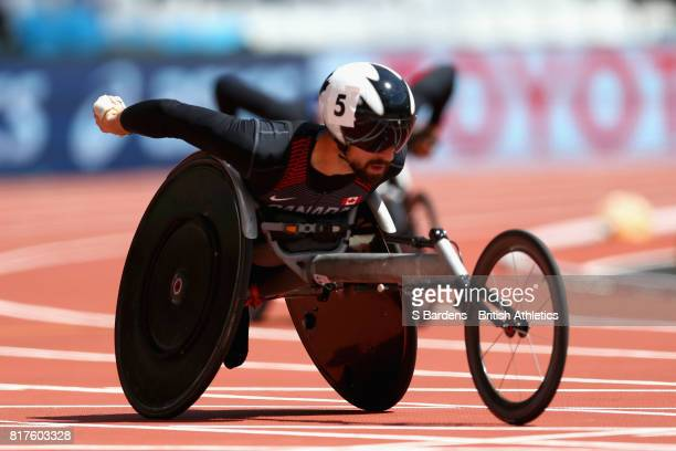 Brent Lakatos of Canada competes in the Men's 400m T53 Round 1 Heat 2 during Day Five of the IPC World ParaAthletics Championships 2017 London at...
