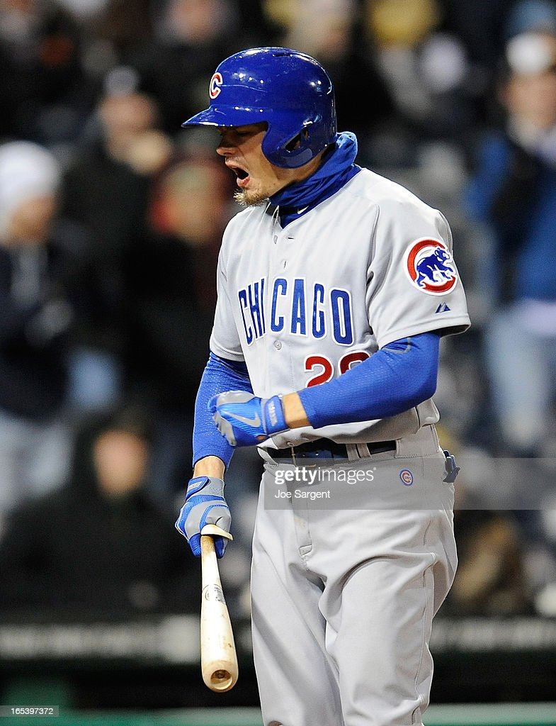 Brent Lillibridge #20 of the Chicago Cubs reacts after striking out during the seventh inning against the Chicago Cubs on April 3, 2013 at PNC Park in Pittsburgh, Pennsylvania.