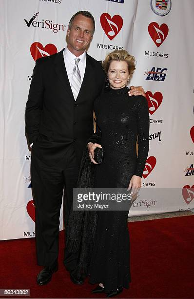 Brent Miller and actress Sheree J WIlson arrives at the 2008 MusiCares Person of the Year gala honoring Aretha Franklin held at the Los Angeles...