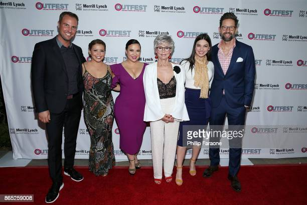 Brent Miller Justina Machado Gloria Calderon Kellett Rita Moreno Isabella Gomez and Todd Grinnell attend the 13th Annual Outfest Legacy Awards at...