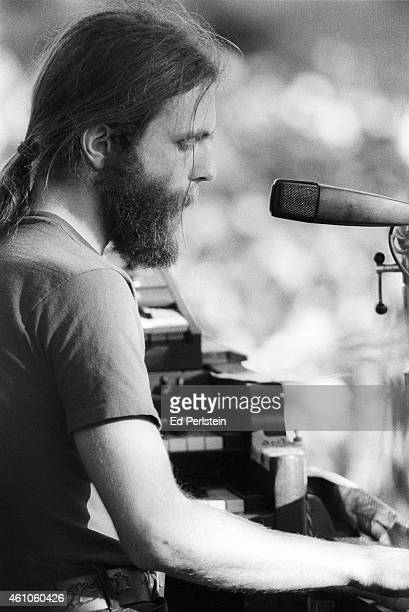 Brent Mydland performs with The Grateful Dead for the first time at Spartan Stadium on April 22 1979 in San Jose California