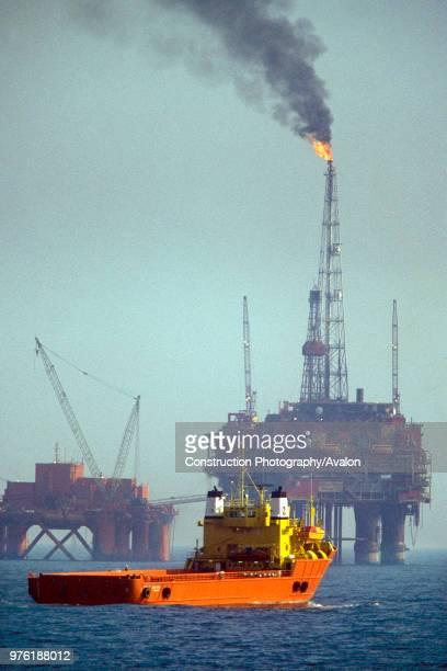 Brent oilfield, North Sea.