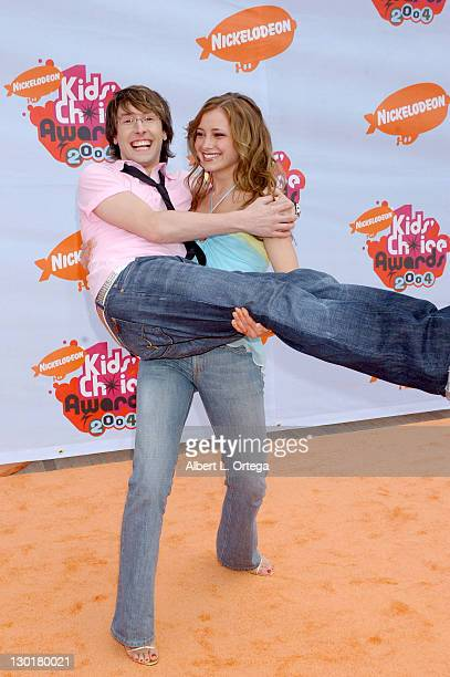 Brent Popolizio and Candace Bailey during Nickelodeon's 17th Annual Kids' Choice Awards Arrivals at Pauley Pavillion in Westwood California United...