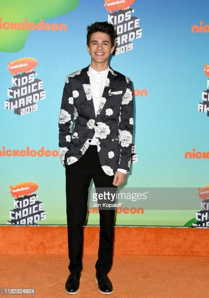 Brent Rivera attends Nickelodeon's 2019 Kids' Choice Awards at Galen Center on March 23 2019 in Los Angeles California