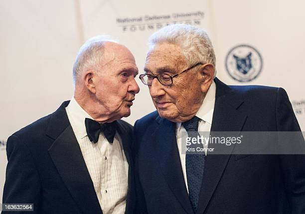 Brent Scowcroft and Henry Kissinger attend the National Defense University Foundation's International Statesman and Business Advocate Award...