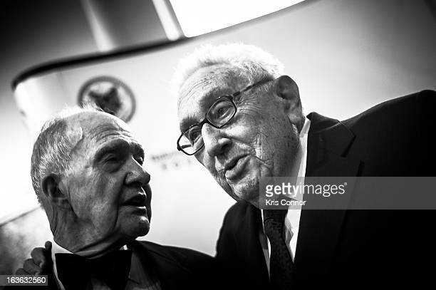 Brent Scowcroft and Henry Kissinger attendsthe National Defense University Foundation's International Statesman and Business Advocate Award...