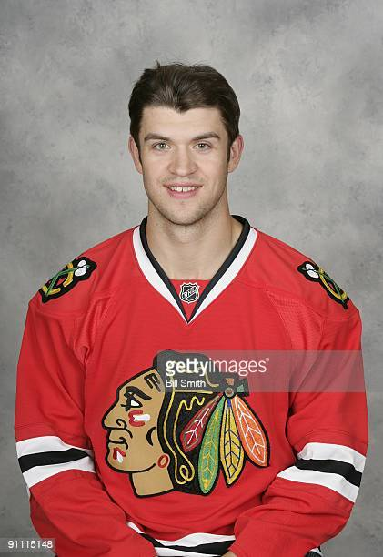 Brent Seabrook of the Chicago Blackhawks poses for his official headshot for the 20092010 NHL season