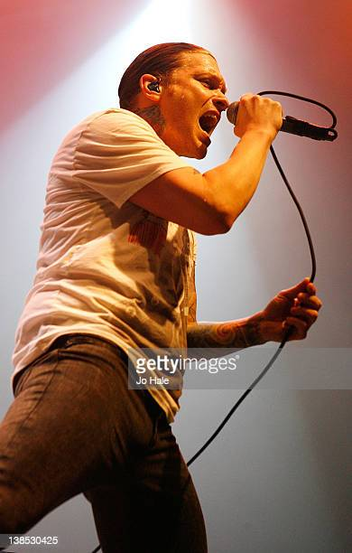 Brent Smith of Shinedown performs at The Roundhouse on February 8 2012 in London England