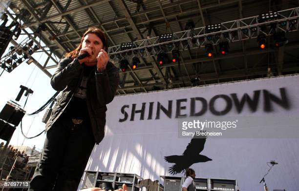 Brent Smith of Shinedown performs during the 2009 Rock On The Range festival at Columbus Crew Stadium on May 17 2009 in Columbus Ohio