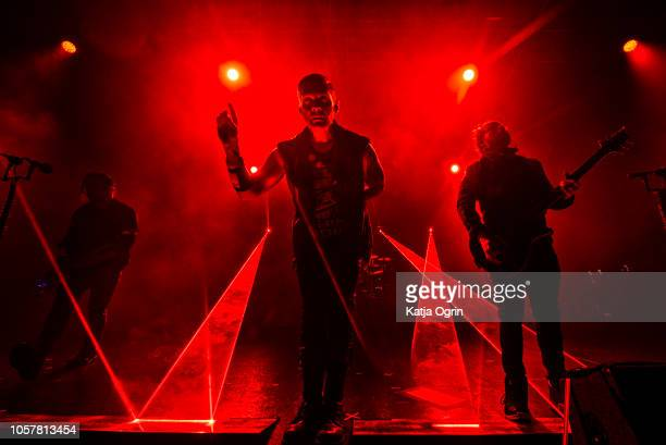 Brent Smith Zach Myers and Eric Bass of Shinedown perform at O2 Academy Birmingham on November 5 2018 in Birmingham England