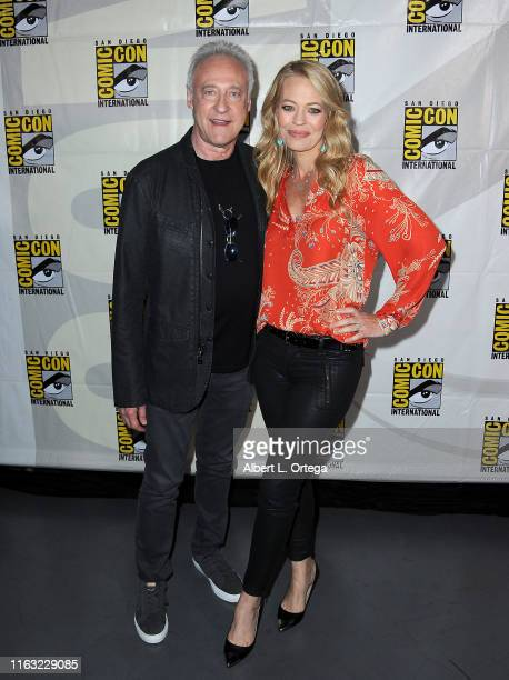 Brent Spiner and Jeri Ryan attend the Enter The Star Trek Universe Panel during 2019 ComicCon International at San Diego Convention Center on July 20...