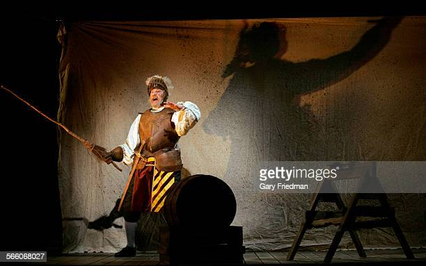 ANGELES CA – Brent Spiner as Cervantes/Don Quixote during a dress rehearsal of 'Man of La Mancha' The play performed by Reprise Theatre Company is to...
