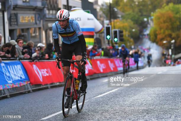 Brent Van Moer of Belgium / during the 92nd UCI Road World Championships 2019 Men Under 23 Road Race a 173km race from from Doncaster to Harrogate...