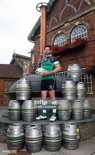 Brent Wilson of Nottingham Rugby poses for a photo during the 2014/15 Greene King IPA Championship Captains photocall at Greene King IPA brewery on...