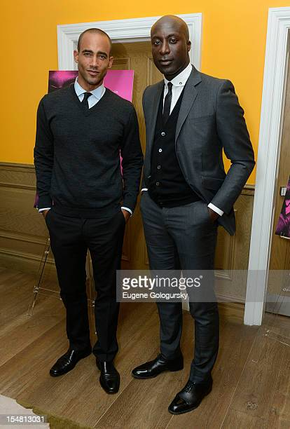 """Brent Zachary and Ozwald Boateng attend """"A Man's Story"""" New York Premiere at Crosby Street Hotel on October 26, 2012 in New York City."""