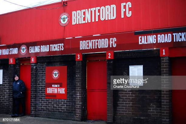 Brentford fan wait for the turnstiles to open before the Sky Bet Championship match between Brentford and Leeds United at Griffin Park on November 4...