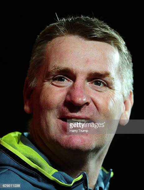 Brentford manager Dean Smith during the Sky Bet Championship match between Bristol City and Brentford at Ashton Gate on December 13 2016 in Bristol...