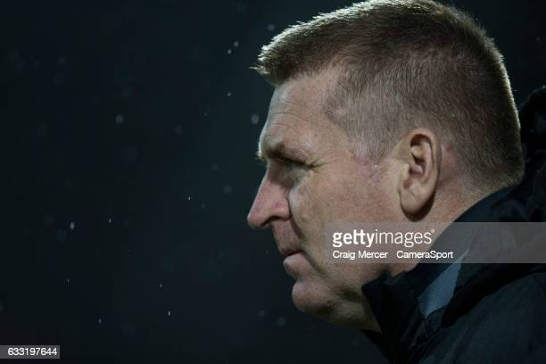 Brentford manager Dean Smith during the Sky Bet Championship match between Brentford and Aston Villa at Griffin Park on January 31 2017 in Brentford...