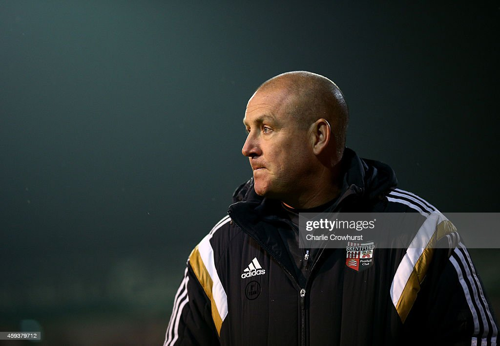 Brentford manager Mark Warburton during the Sky Bet Championship match between Brentford and Fulham at Griffin Park on November 21, 2014 in Brentford, England,