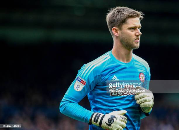 Brentford's Luke Daniels during the Sky Bet Championship match between Leeds United and Brentford at Elland Road on October 6 2018 in Leeds England