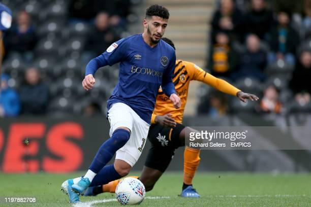 Brentford's Said Benrahma and Hull City's Leonardo da Silva Lopes battle for the ball Hull City v Brentford Sky Bet Championship KCOM Stadium