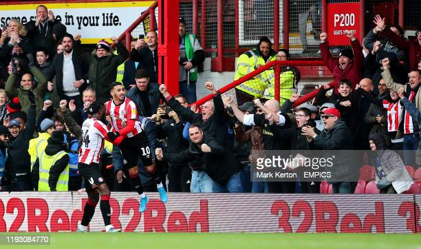 Brentford's Said Benrahma celebrates scoring his side's first goal of the game Brentford v Queens Park Rangers Sky Bet Championship Griffin Park