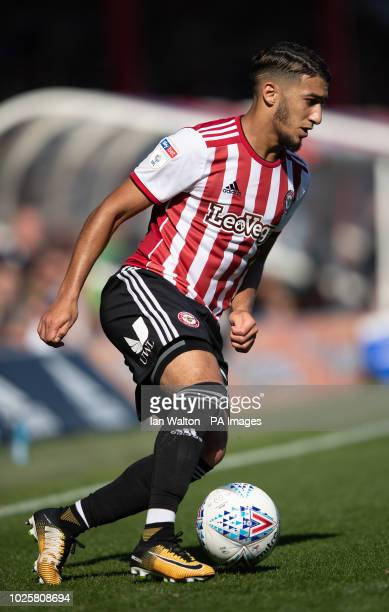 Brentford's Said Benrahma in action Brentford v Nottingham Forest Sky Bet Championship Griffin Park