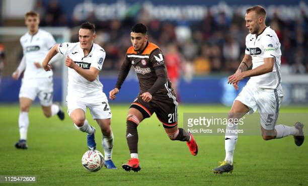 Brentford's Said Benrahma in action during the FA Cup fifth round match at the Liberty Stadium Swansea
