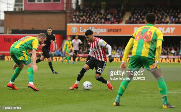 Brentford's Said Benrahma on the ball Brentford v West Bromwich Albion Sky Bet Championship Griffin Park