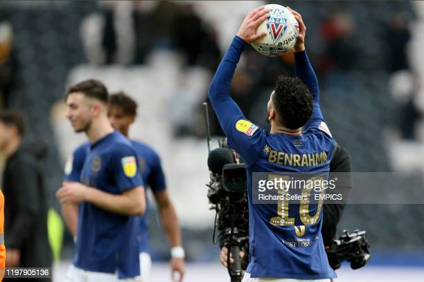 Brentford's Said Benrahma with the matchball Hull City v Brentford Sky Bet Championship KCOM Stadium