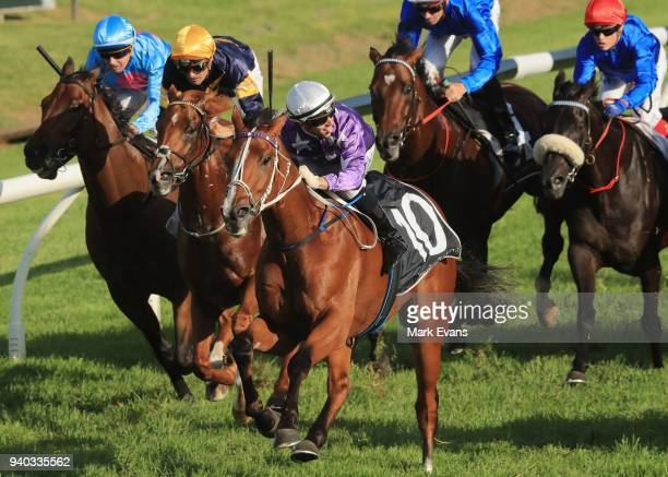 Brenton Avdulla on Cellerman wins race 8 The Doncaster Prelude during Sydney Racing at Rosehill Gardens on March 31 2018 in Sydney Australia