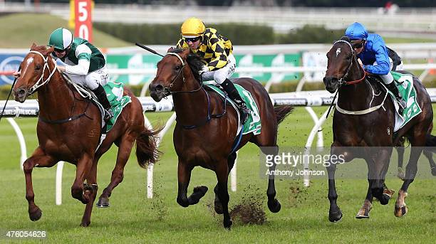 Brenton Avdulla rides Spill The Beans to win race 1 The Australian Jewellery Liquidators Plate during Sydney Racing at Royal Randwick Racecourse on...