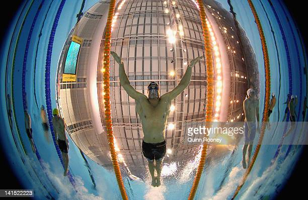 Brenton Rickard of Australia competes in the Semi Final of the Men's 200 Metre Breaststroke during day four of the Australian Olympic Swimming Trials...