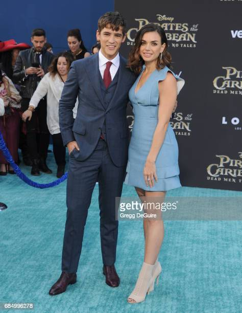 Brenton Thwaites and Chloe Pacey arrive at the premiere of Disney's 'Pirates Of The Caribbean Dead Men Tell No Tales' at Dolby Theatre on May 18 2017...