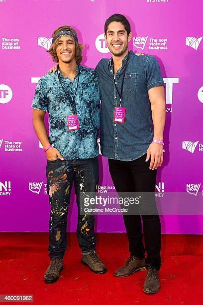 Brenton Thwaites and Tai Hara at Tropfest 2014 on December 7 2014 in Sydney Australia