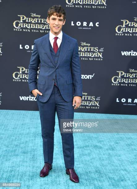 Brenton Thwaites arrives at the Premiere Of Disney's 'Pirates Of The Caribbean Dead Men Tell No Tales' at Dolby Theatre on May 18 2017 in Hollywood...
