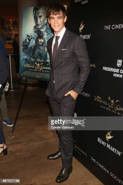 Brenton Thwaites attends The Cinema Society with Remy Martin Frederique Constant host a screening of Pirates of the Caribbean Dead Men Tell No Tales...