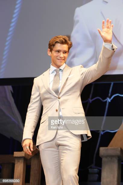 Brenton Thwaites attends the Japan Premiere of Pirates Of The Caribbean Dead Men Tell No Tales at the Shinagawa Prince Hotel on June 20 2017 in Tokyo...